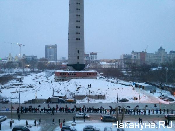 Екатеринбург, телебашня, екатеринбургская телебашня, митинг|Фото: Накануне.RU