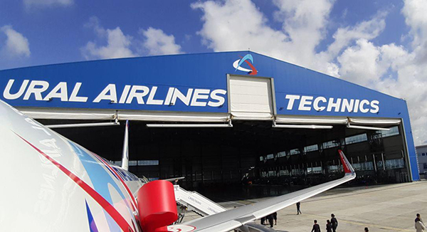 Уральские авиалинии Airbus A320neo ангар Фото:Накануне.RU