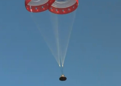 спуск пилотируемого корабля Starliner испытания  Фото:NASA