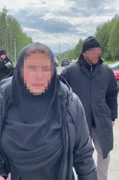 Ксению Собчак избили в женском монастыре схиигумена Сергия. Фото: telegram-канал Кровавая барыня