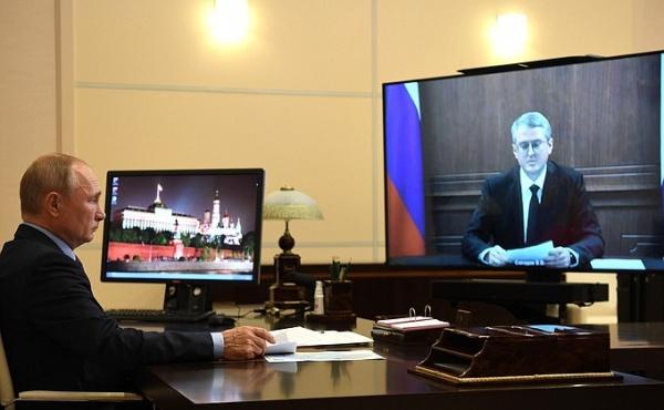 Встреча Путина и врио главы Камчатского края Владимира Солодова. Фото: Kremlin.Ru