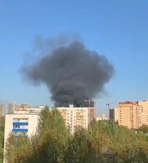 Пожар в Кузьминках 23.09.20.|Фото: телеканал 360