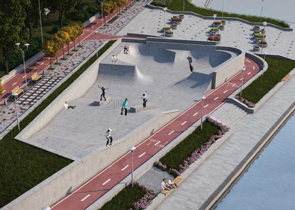 набережная Исети, благоустройство, парк, спортивная зона|Фото: екатеринбург.рф